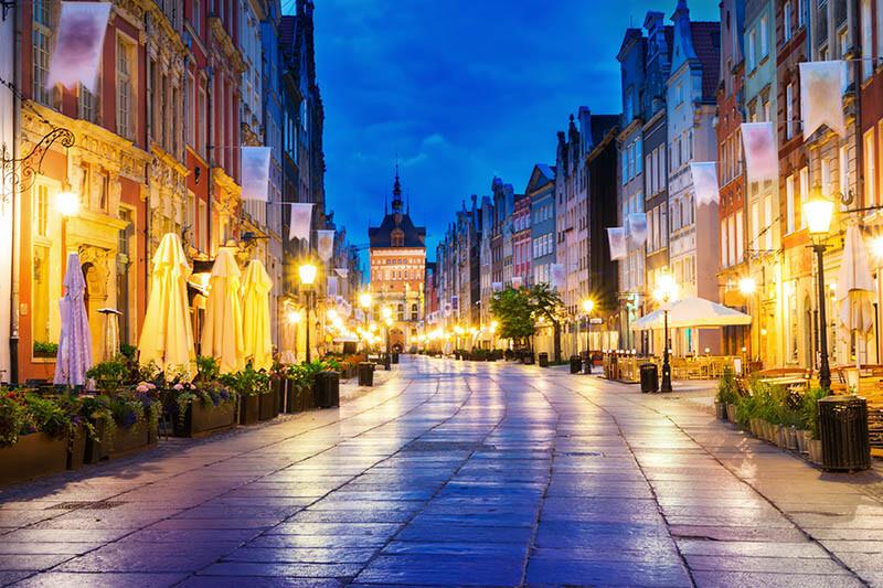 Oświetlenie centrum miasta